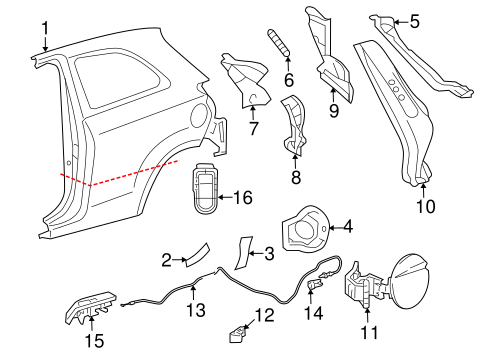 BODY/QUARTER PANEL & COMPONENTS for 2014 Toyota Yaris #2