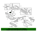 Rear Floor Pan Mount Bracket - Toyota (57695-47030)