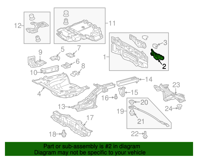 OEM Rear Body Panel Reinforcement - Toyota (58383-47010)