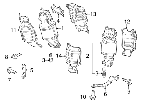 Catalytic Converter Stud - Honda (90065-PG6-000)
