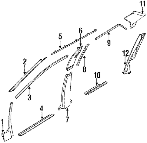 Upper Quarter Trim - Toyota (62472-12220-02)