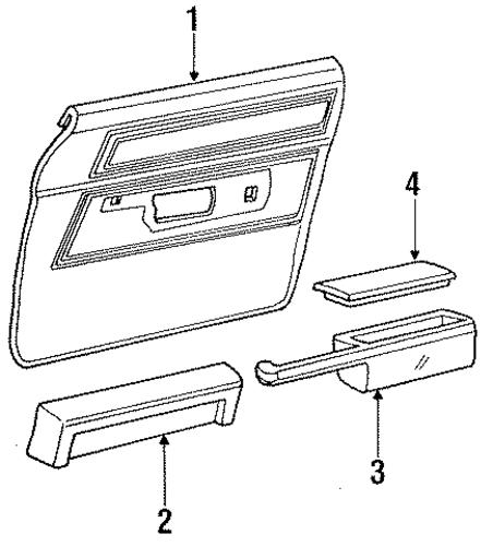interior trim door for 1987 mercury grand marquis. Black Bedroom Furniture Sets. Home Design Ideas