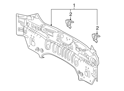 Rear Body Panel Bracket - Toyota (58386-47020)