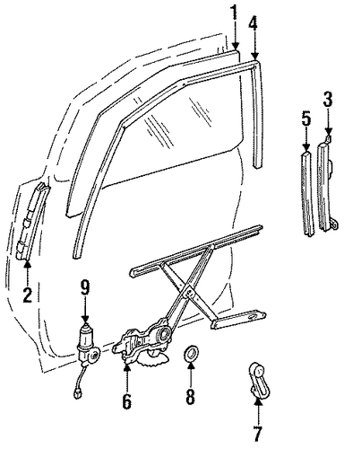 BODY/FRONT DOOR for 1996 Toyota Previa #1