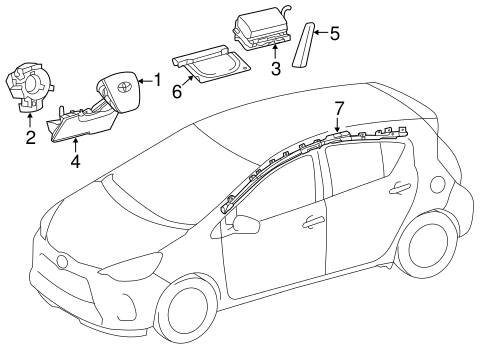 ELECTRICAL/AIR BAG COMPONENTS for 2013 Toyota Prius C #2