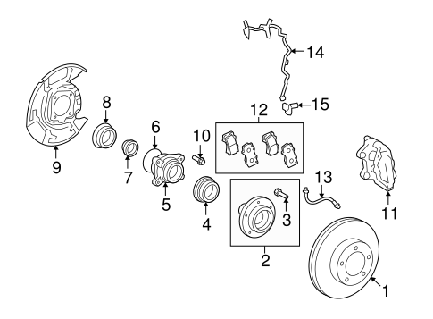 BRAKES/BRAKE COMPONENTS for 2013 Toyota Sequoia #2