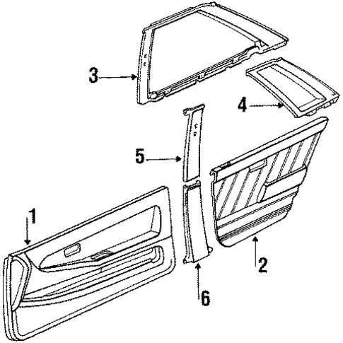 Door Trim - Toyota (67610-16670-01)