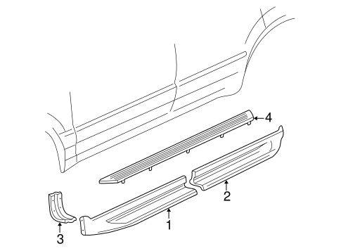 Exterior Trim Pillars For 1998 Ford Explorer