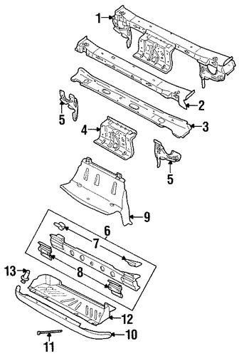 oem radiator support for 2002 saturn sl2