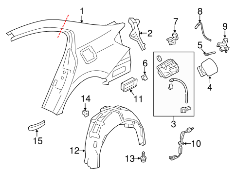 OEM Honda 74550-T3V-A01 - Splash Shield