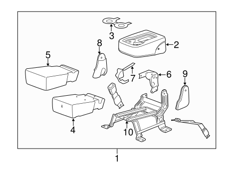 GM OEM Rear Seat-Foam Cushion Pad 22771033