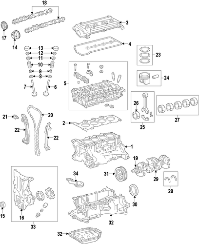 ENGINE/ENGINE for 2015 Toyota Prius C #1
