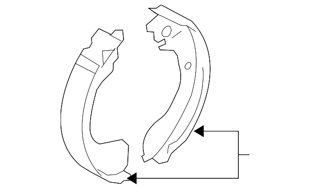 Brake Shoes - Nissan (D4060-3LM0A)