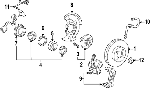 BRAKES/ANTI-LOCK BRAKES for 1996 Toyota Corolla #1