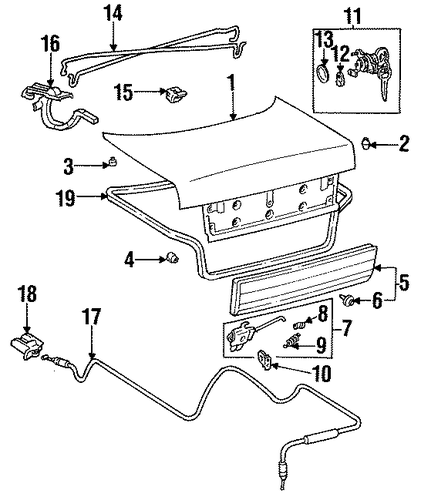 BODY/LID & COMPONENTS for 1996 Toyota Corolla #1