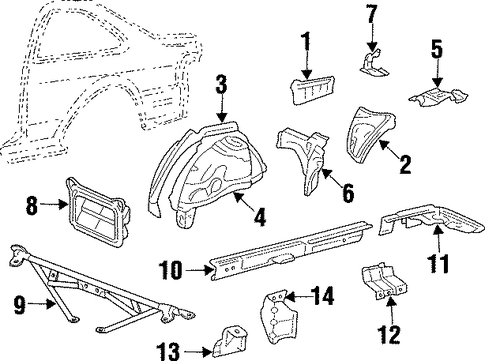 Pkg Tray Support - Toyota (64313-16080)