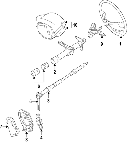 STEERING/STEERING COLUMN for 2004 Toyota Corolla #1