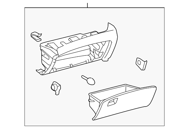 Glove Box Assembly - Toyota (55303-0T010-A0)