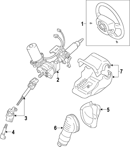 STEERING/STEERING COLUMN for 2014 Scion tC #1