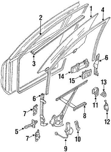 Door Weather-Strip - Toyota (67861-12730)