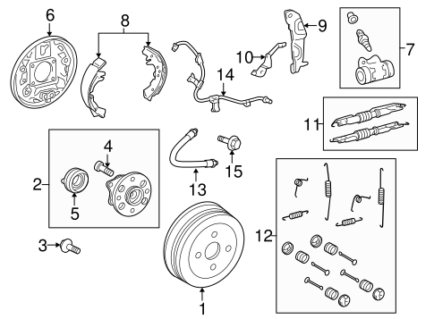 BRAKES/BRAKE COMPONENTS for 2015 Toyota Yaris #1