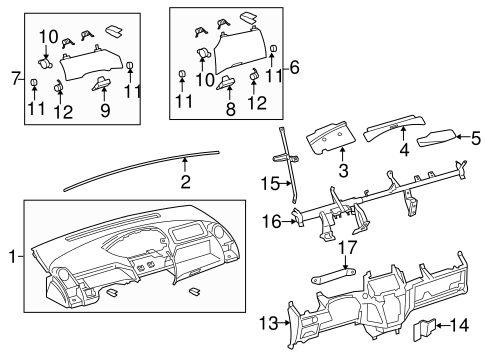 Glove Box Door - Toyota (55041-52010-B0)