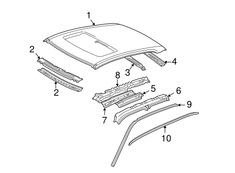 Roof Panel - Toyota (63111-33120)