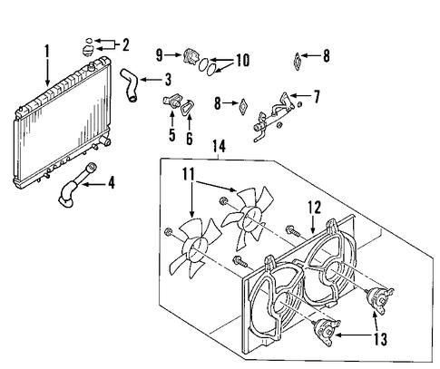 radiator  u0026 components for 2007 nissan maxima