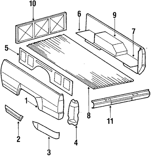 Bed Floor - Toyota (65316-89116)