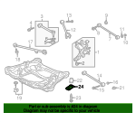 1999 Honda ACCORD SEDAN EXV6 STAY E, R. MOUNTING - (50354S87A00)