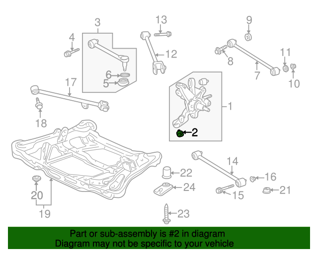 1991 Honda ACCORD COUPE LX BUSH A, RR. ARM (LOWER) (YAMASHITA) - (52365SM4004)