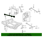 2001 Honda ACCORD SEDAN LX ARM, R. RR. TRAILING (DRUM) - (52370S84A31)