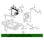 2001 Honda ACCORD SEDAN LX ARM, RR. (UPPER) - (52390S84A01)