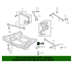 1999 Honda ACCORD SEDAN EXV6 INSULATOR E, SUB-FRAME MOUNTING (LOWER) - (50351S87A00)