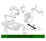 2001 Honda ACCORD SEDAN EXL (LEATHER) ARM, RR. (LOWER) - (52350S84A01)