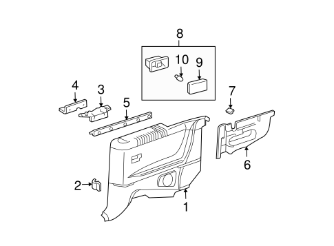 Quarter Trim Panel Bracket - Toyota (62533-AA010)