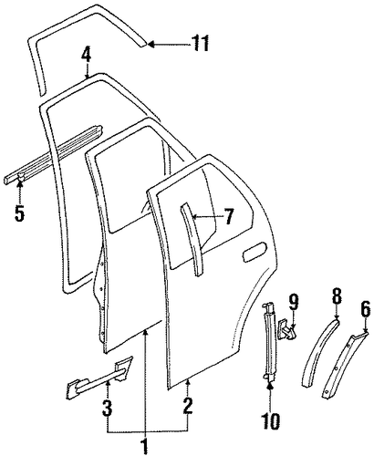 Surround Weather-strip - Honda (8-97304-398-1)