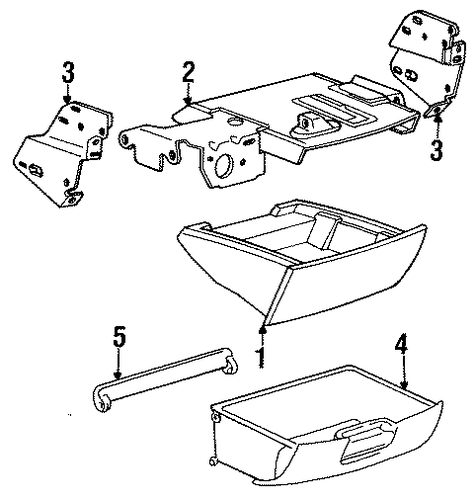 Storage Box - Toyota (58810-95D34-B0)