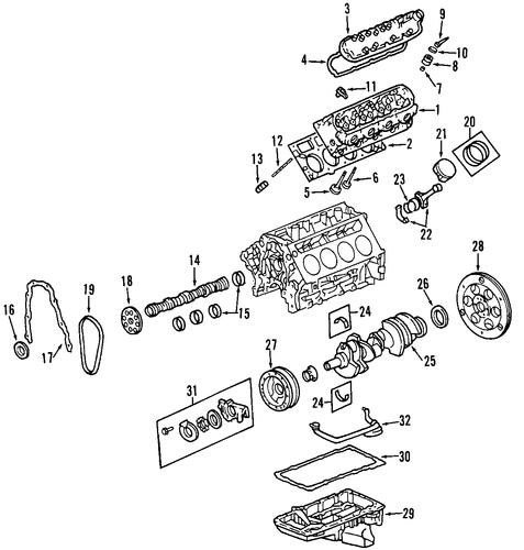 Crankshaft - GM (12583565)