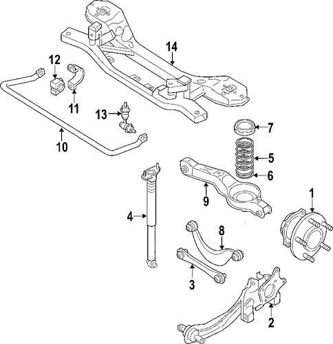 rear suspension for 2008 lincoln mkx