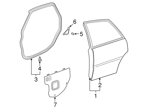 Door Weather-Strip Retainer - Toyota (67868-12050)