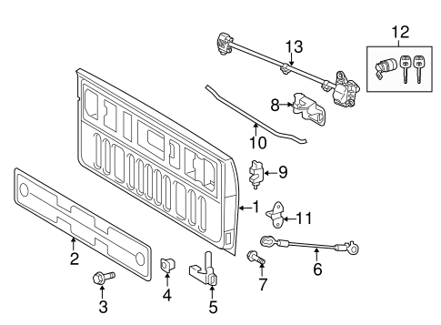 toyota tundra bed parts diagram subaru baja bed parts