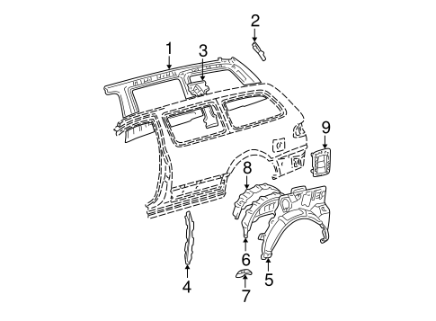 BODY/INNER STRUCTURE for 1998 Toyota Sienna #2
