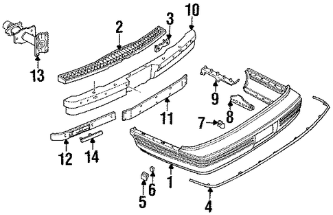 Lexus Es300 Oem Parts Diagram also Bumper And  ponents Rear Scat together with 2007 Pontiac G6 Front End Parts in addition Frame And  ponents Scat moreover 1998 Dodge Dakota Vacuum Line Diagram. on pontiac grand prix front end parts