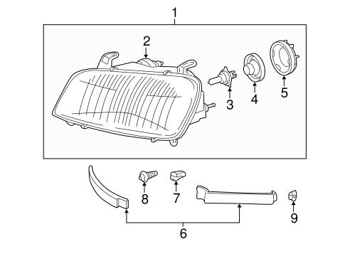 ELECTRICAL/HEADLAMP COMPONENTS for 1996 Toyota RAV4 #1