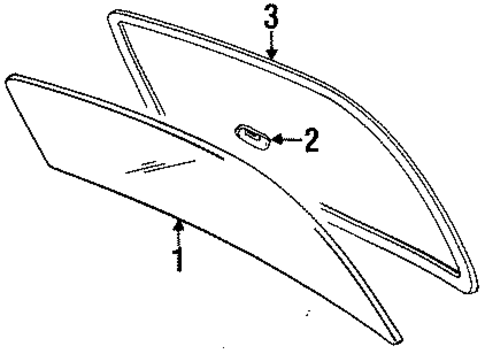Back Glass - Toyota (64811-16551)