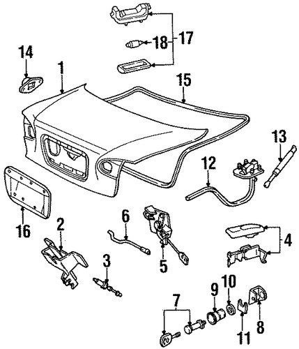 lid  u0026 components for 1998 ford contour