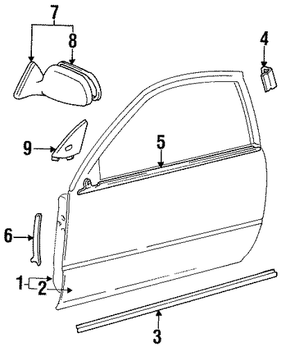 Door Shell - Toyota (67002-16490)