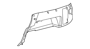 Lower Quarter Trim - Toyota (64715-35902-B1)