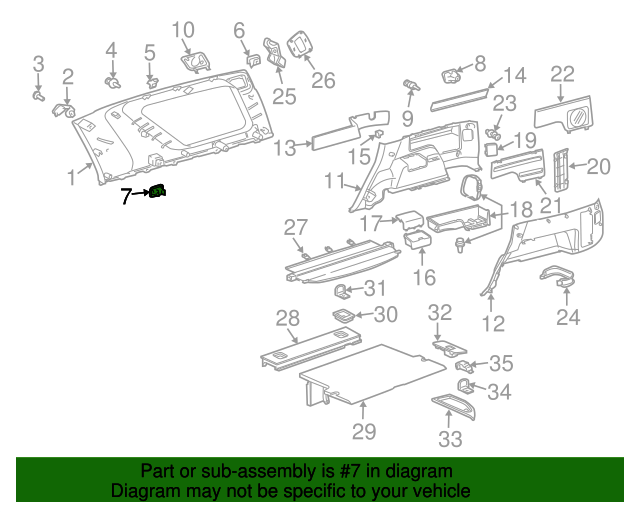 Upper Quarter Trim Holder - Toyota (64936-35040-B0)